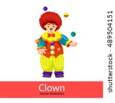 clown. vector illustration of a ... | Shutterstock .eps vector #489504151