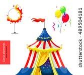 circus. vector elements. circus ... | Shutterstock .eps vector #489504181