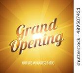 grand opening vector...   Shutterstock .eps vector #489507421