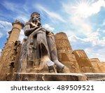 the huge statue of ramesses ii... | Shutterstock . vector #489509521