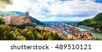 panoramic view of beautiful... | Shutterstock . vector #489510121