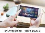 digital music streaming... | Shutterstock . vector #489510211