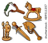 Set Of Toys Made Of Wood...