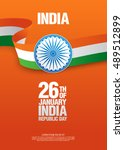 republic day of india. 26 th of ... | Shutterstock .eps vector #489512899