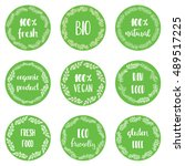 icons and labels for natural... | Shutterstock .eps vector #489517225
