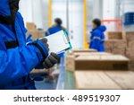 closeup shooting hand of worker ...   Shutterstock . vector #489519307