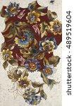 floral hand made design   Shutterstock . vector #489519604