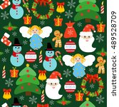 xmas design wallpaper christmas ... | Shutterstock .eps vector #489528709