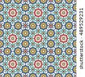 seamless pattern in moroccan... | Shutterstock .eps vector #489529231