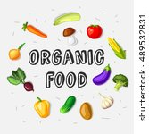 organic food design template... | Shutterstock .eps vector #489532831