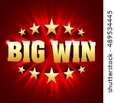 big win banner background for... | Shutterstock .eps vector #489534445