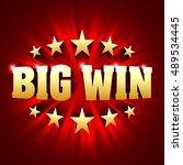 big win banner background for... | Shutterstock .eps vector #489534445