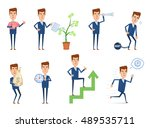 set of businessman characters... | Shutterstock .eps vector #489535711