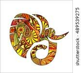 elephant | Shutterstock .eps vector #489539275