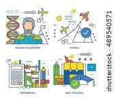 the basic concept of set  ... | Shutterstock .eps vector #489540571