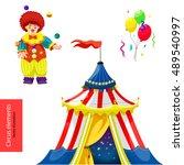 circus. vector elements. circus ... | Shutterstock .eps vector #489540997
