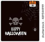 happy halloween vector design  | Shutterstock .eps vector #489544999