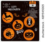 halloween vector design... | Shutterstock .eps vector #489545005