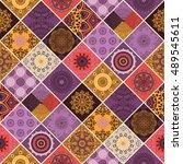 seamless pattern. vintage... | Shutterstock .eps vector #489545611