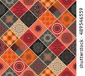seamless pattern. vintage...   Shutterstock .eps vector #489546559