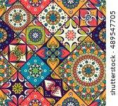 seamless pattern. vintage... | Shutterstock .eps vector #489547705