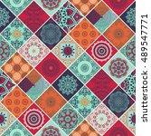 seamless pattern. vintage... | Shutterstock .eps vector #489547771