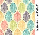 seamless pattern. vintage...   Shutterstock .eps vector #489547825