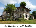 abandoned old house surrounded... | Shutterstock . vector #48954820