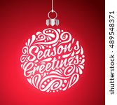 holidays greeting card with... | Shutterstock .eps vector #489548371