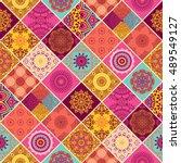 seamless pattern. vintage... | Shutterstock .eps vector #489549127