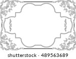 the baroque style fine art page ... | Shutterstock .eps vector #489563689
