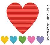 heart paper | Shutterstock .eps vector #489564475
