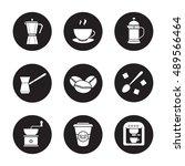coffee icons set. espresso... | Shutterstock .eps vector #489566464