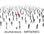 people 3d group crowd | Shutterstock . vector #489569851