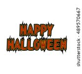 happy halloween text for sign ... | Shutterstock .eps vector #489570667