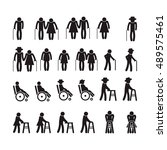 old people icon set. | Shutterstock .eps vector #489575461