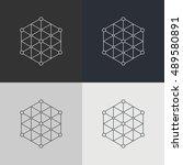 abstract technology element.... | Shutterstock .eps vector #489580891