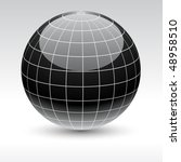 glossy globe icon. vector... | Shutterstock .eps vector #48958510
