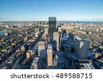 cityscape with skyscrapers ... | Shutterstock . vector #489588715