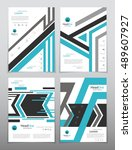 vector design for cover report... | Shutterstock .eps vector #489607927