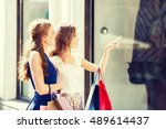 sale  consumerism and people... | Shutterstock . vector #489614437