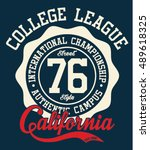 california sport typography  t... | Shutterstock .eps vector #489618325