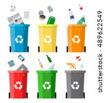 waste management concept... | Shutterstock . vector #489622549