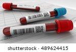 3d render illustration blood... | Shutterstock . vector #489624415