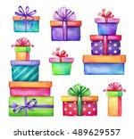 Watercolor Holiday Presents...