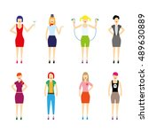women in clothes. vector