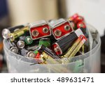 used battery   electronic waste ... | Shutterstock . vector #489631471