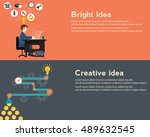 creative idea generator  bright ...   Shutterstock .eps vector #489632545