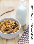 corn flakes nutrition cereal... | Shutterstock . vector #489636601