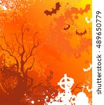 background on halloween with... | Shutterstock . vector #489650779